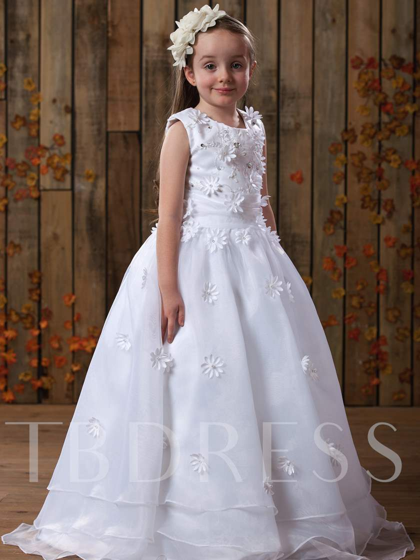 Ball Gown Floor-Length Flower Girl Dress