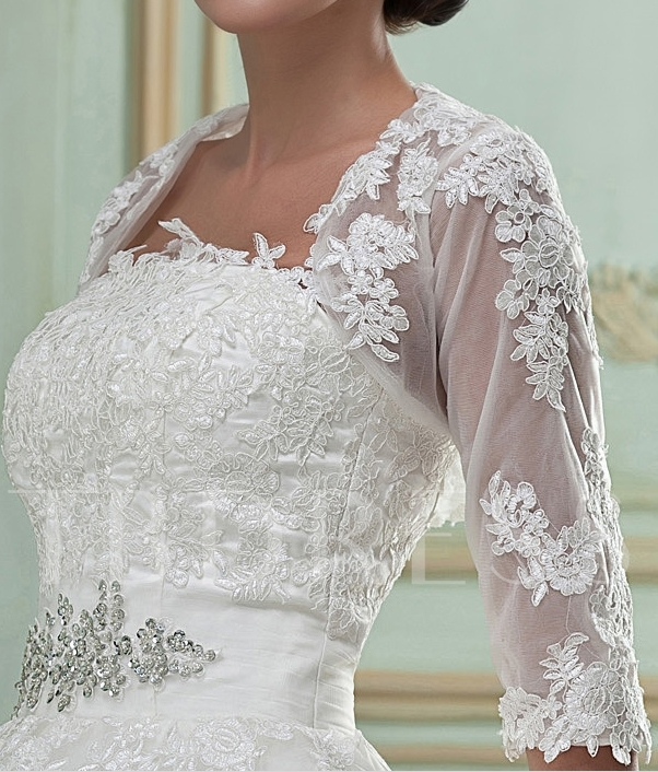 1/2 Sleeve Length Lace Wedding Jacket