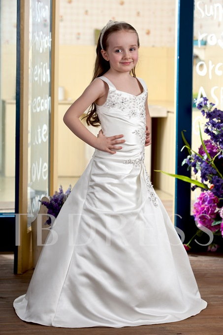 A-line Floor-length Flower Girl Dress