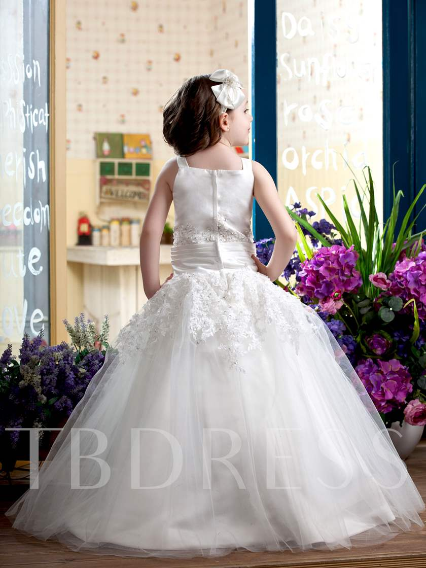 Ball Gown Straps Flower Girl Dress