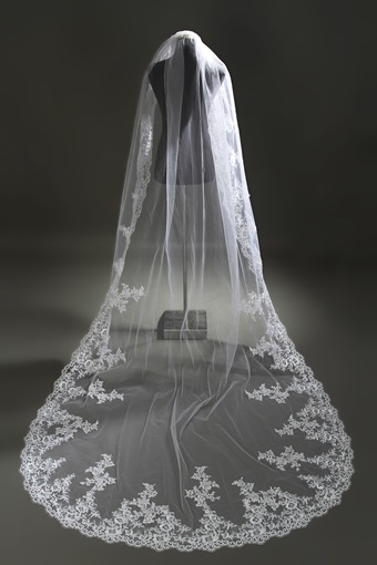 Cathedral Length White Wedding Veil