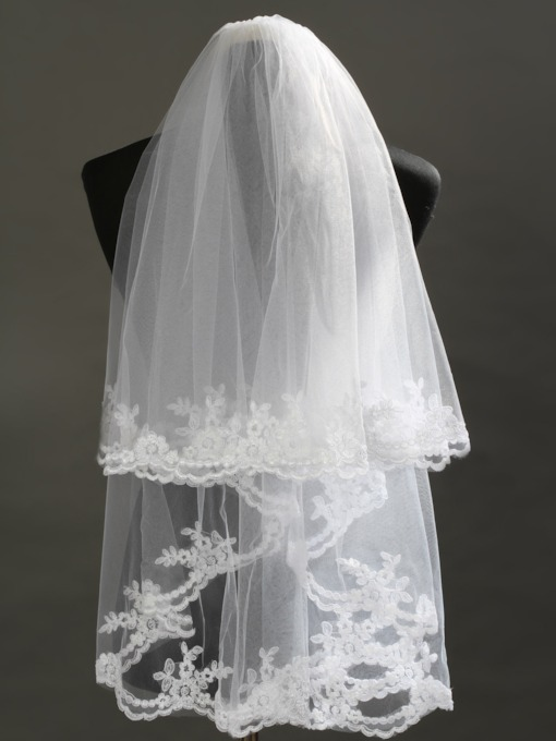 2 Layer Elbow Lace Wedding Bridal Veil