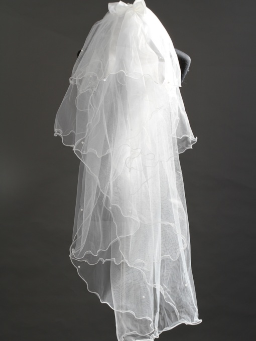 4Layer Fingertip Wedding Veils