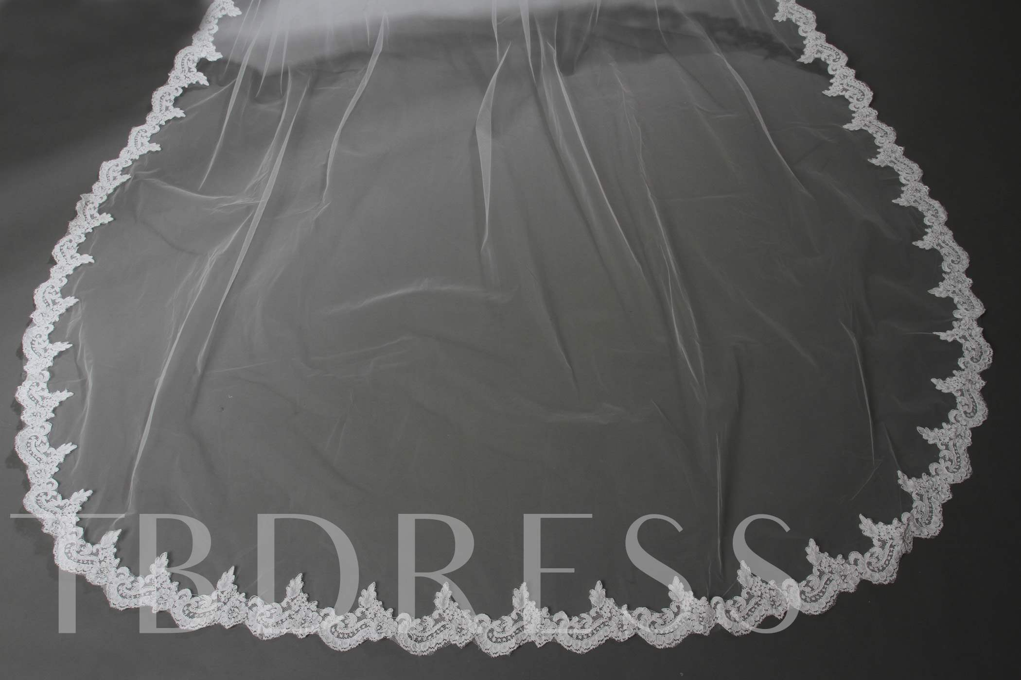 Wedding Veil One-tier Chapel Veils Cathedral Veils Lace Applique Edge