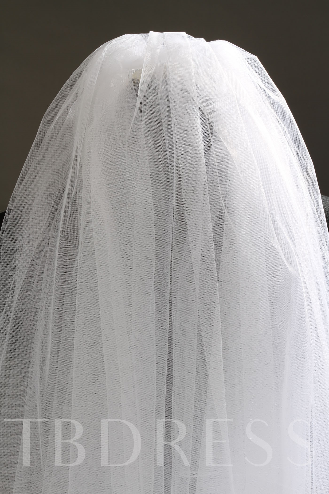 2 Layer Fingertip White Tull Wedding Bridal Veils
