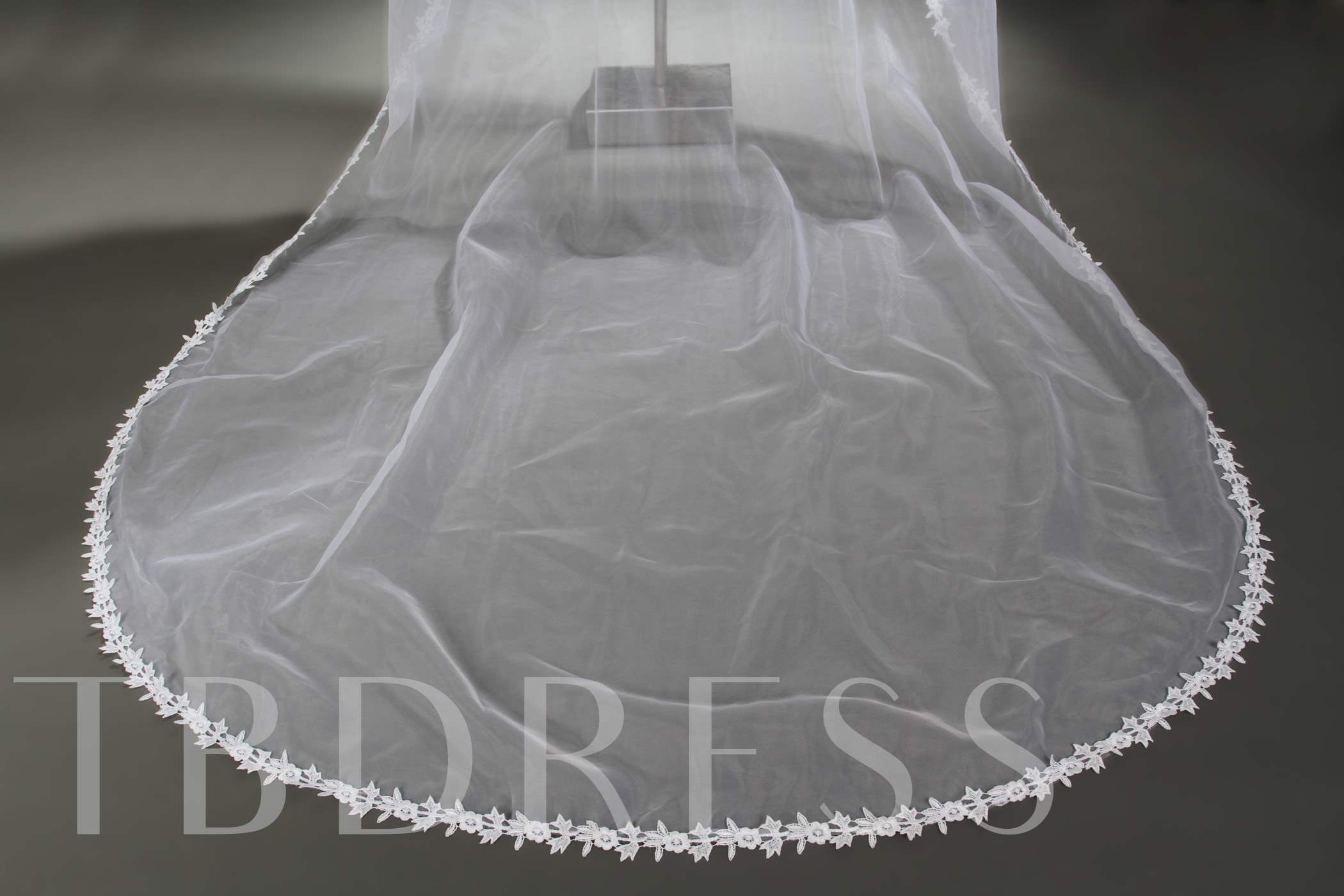 Cathedral Length Ivory Lace Wedding Veil