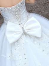 Sweetheart Cathedral Train Appliques Wedding Dress