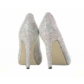 Sheepskin Upper Stiletto Heel Closed-toe Wedding Shoes
