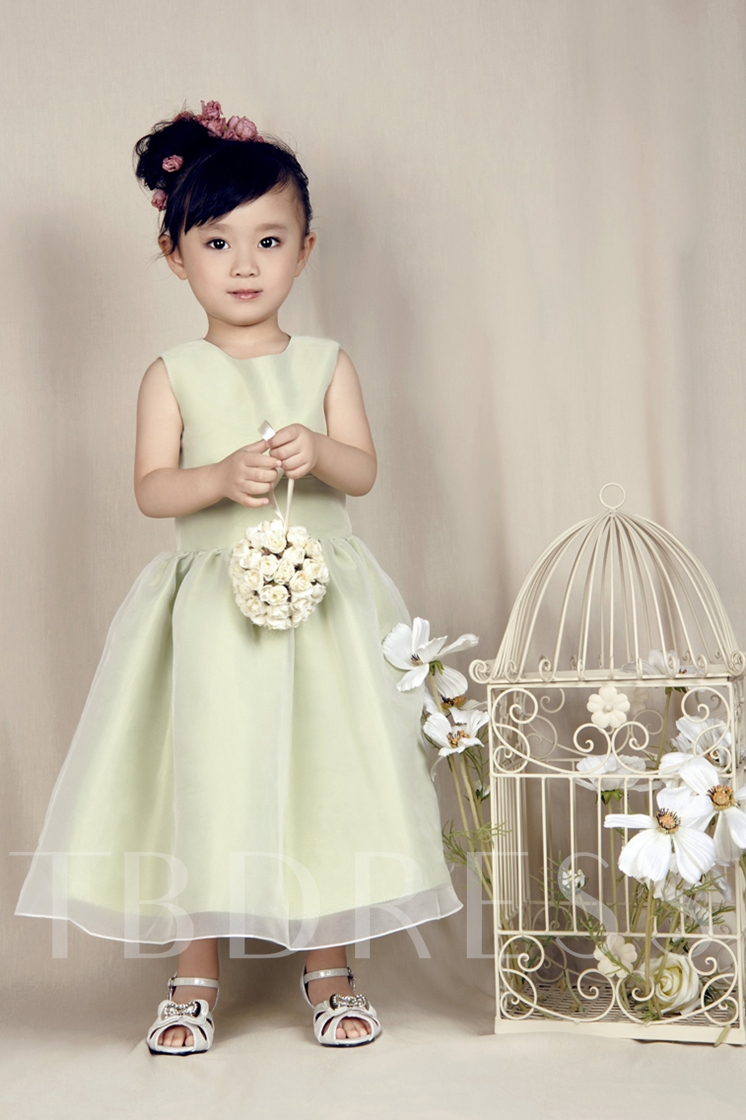 Scoop Ankle-length A-Line Flower Girl Dress