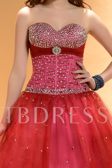 Ball Gown Sweetheart Beading Sequins Long Quinceanera/Prom Dress