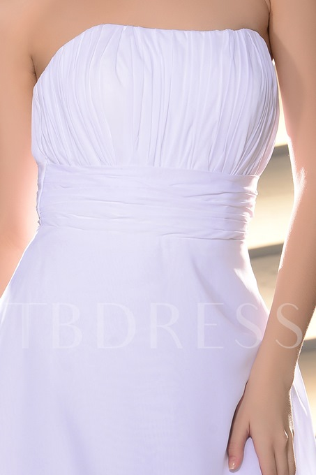 Ruched A-line Strapless Tiered Short Homecoming Dress