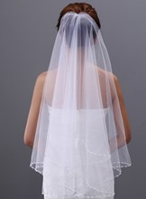 Elbow Beading Wedding Veil