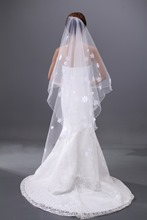 Waltz Tulle Flower Wedding Veil