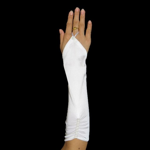 Fingerless Ruched Wedding Bridal Glove