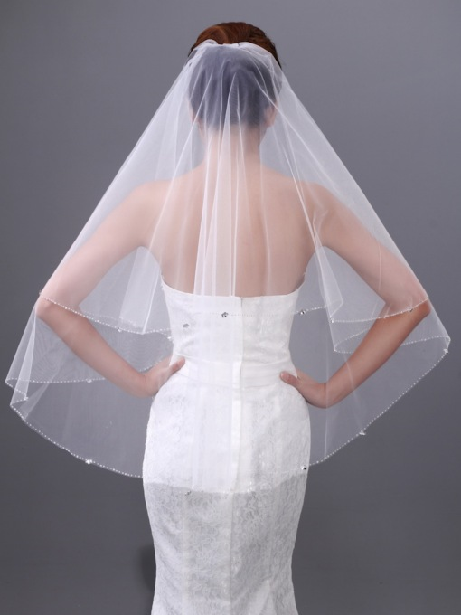 Special Fingertip Single Layer Wedding Veil