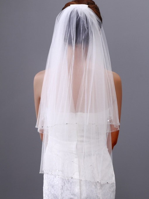 Single Yarn Two Layers Wedding Veil
