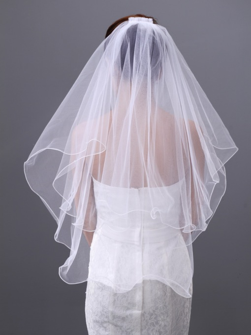 Elbow Two Layers Wedding Veil