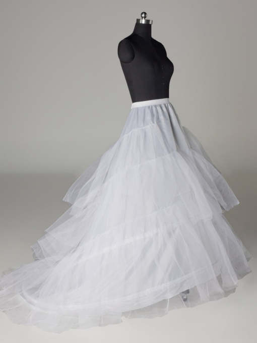 A-line Three Layers Three Steel Rings Wedding Petticoat