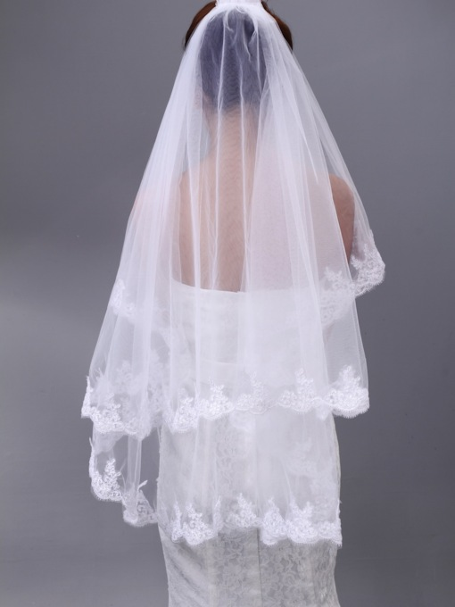 Applique Tulle Wedding Veil
