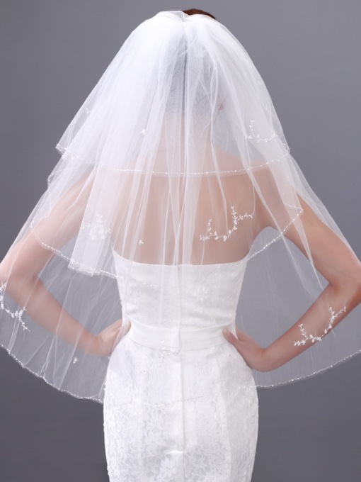 Three Layers Single-wire Yarn Wedding Veil