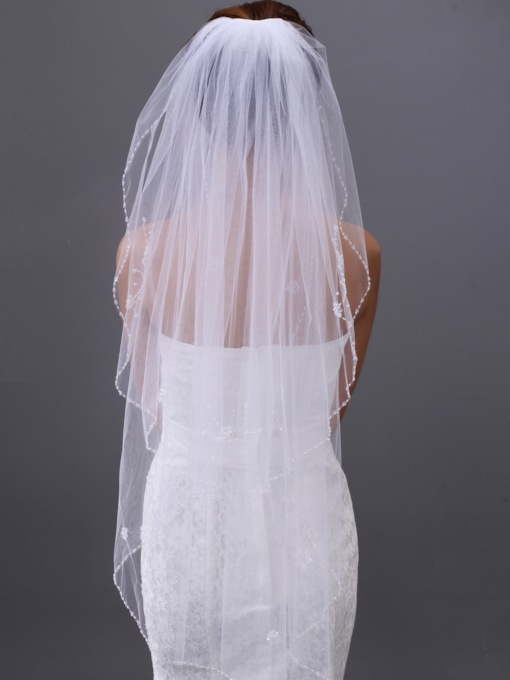 2-layer Fingertip Wedding Veil