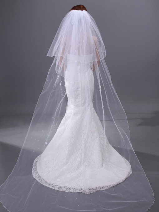 Beading Cathedral Three-Layer Wedding Veil