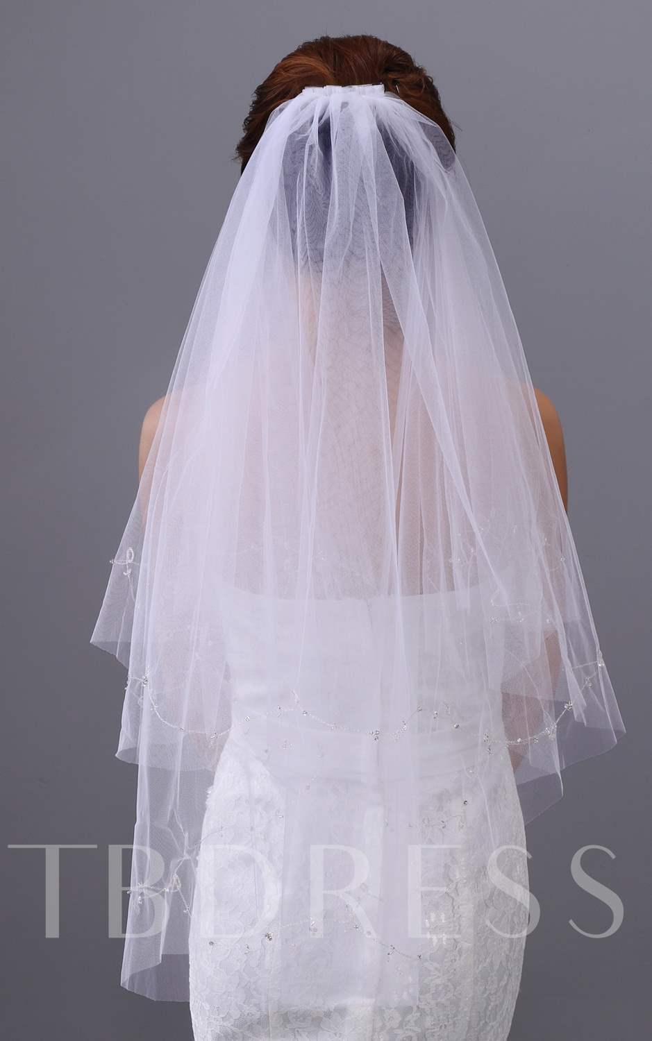 Tulle Two Layers Elbow Wedding Veil