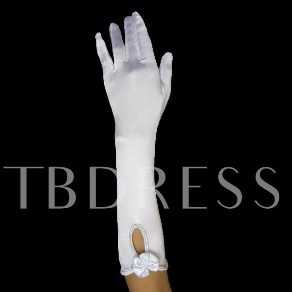 Fingers Hollow Bowknot Wedding Bridal Glove