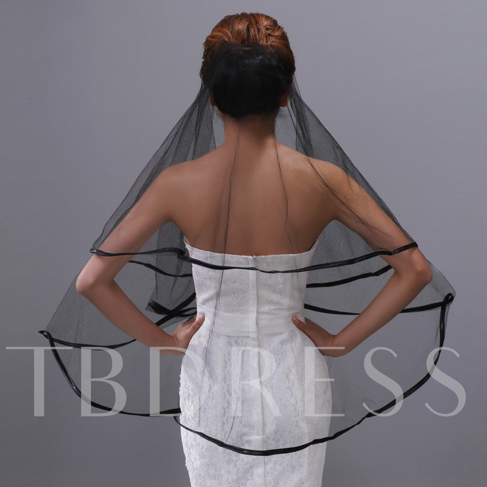 Mid-hip Satin Edge Wedding Veil