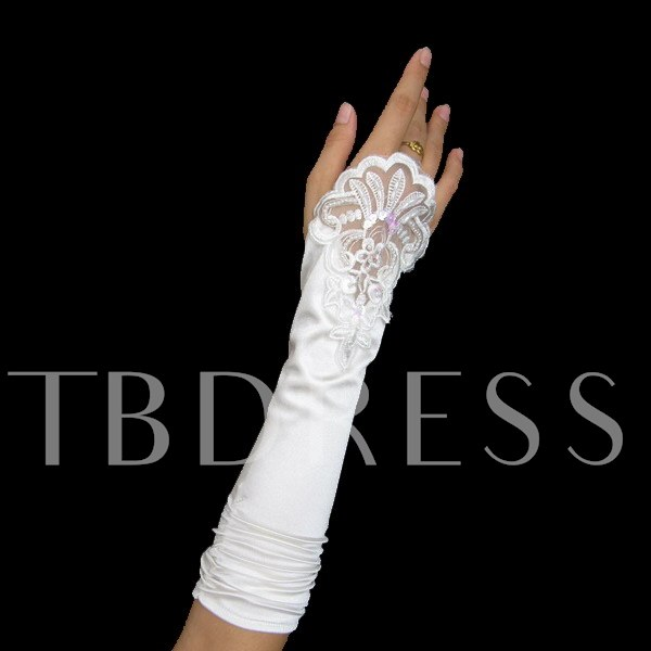Fingerless Lace Flowers Wedding Bridal Glove
