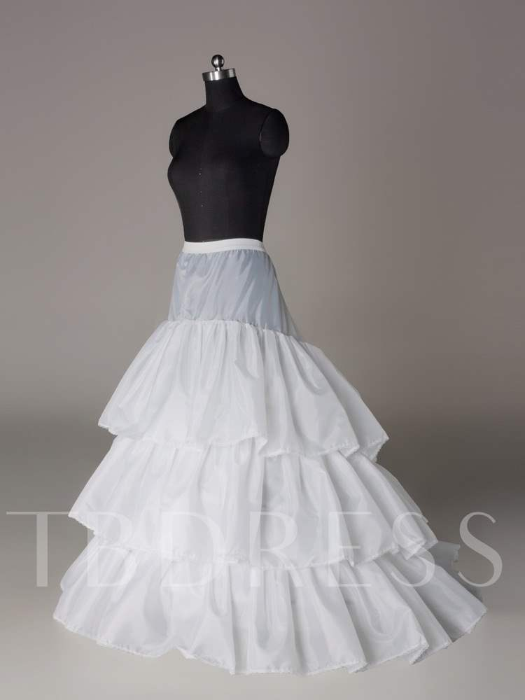 Court Train Three Layers Three Steel Rings Wedding Petticoat