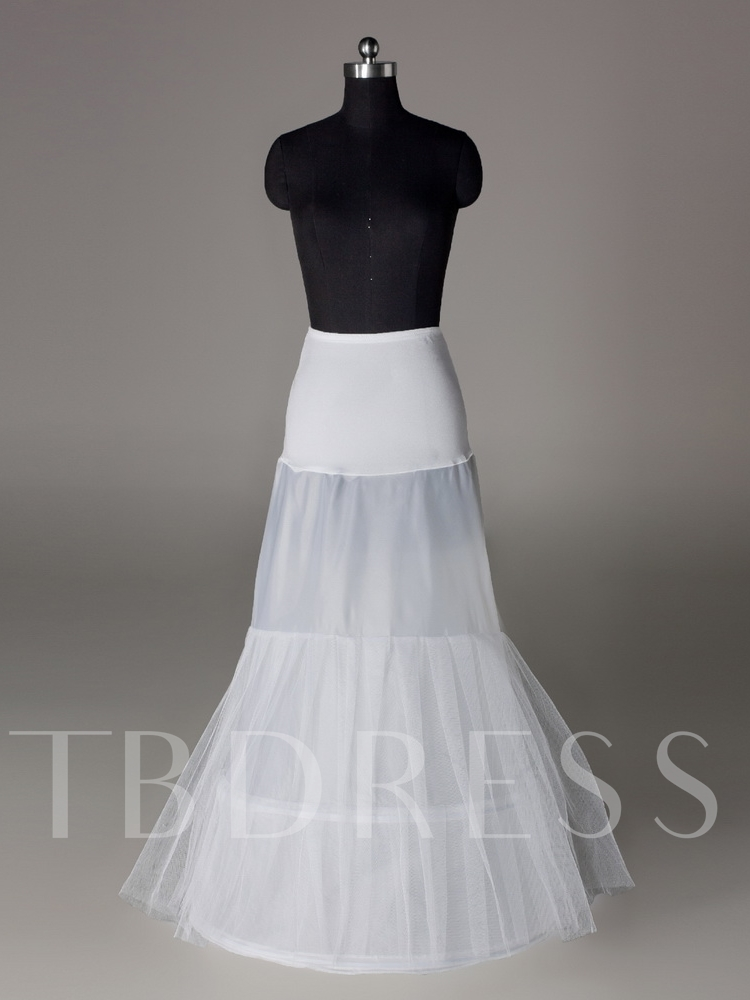 Fish Tailing Two Layers Two Steel Rings Wedding Petticoat