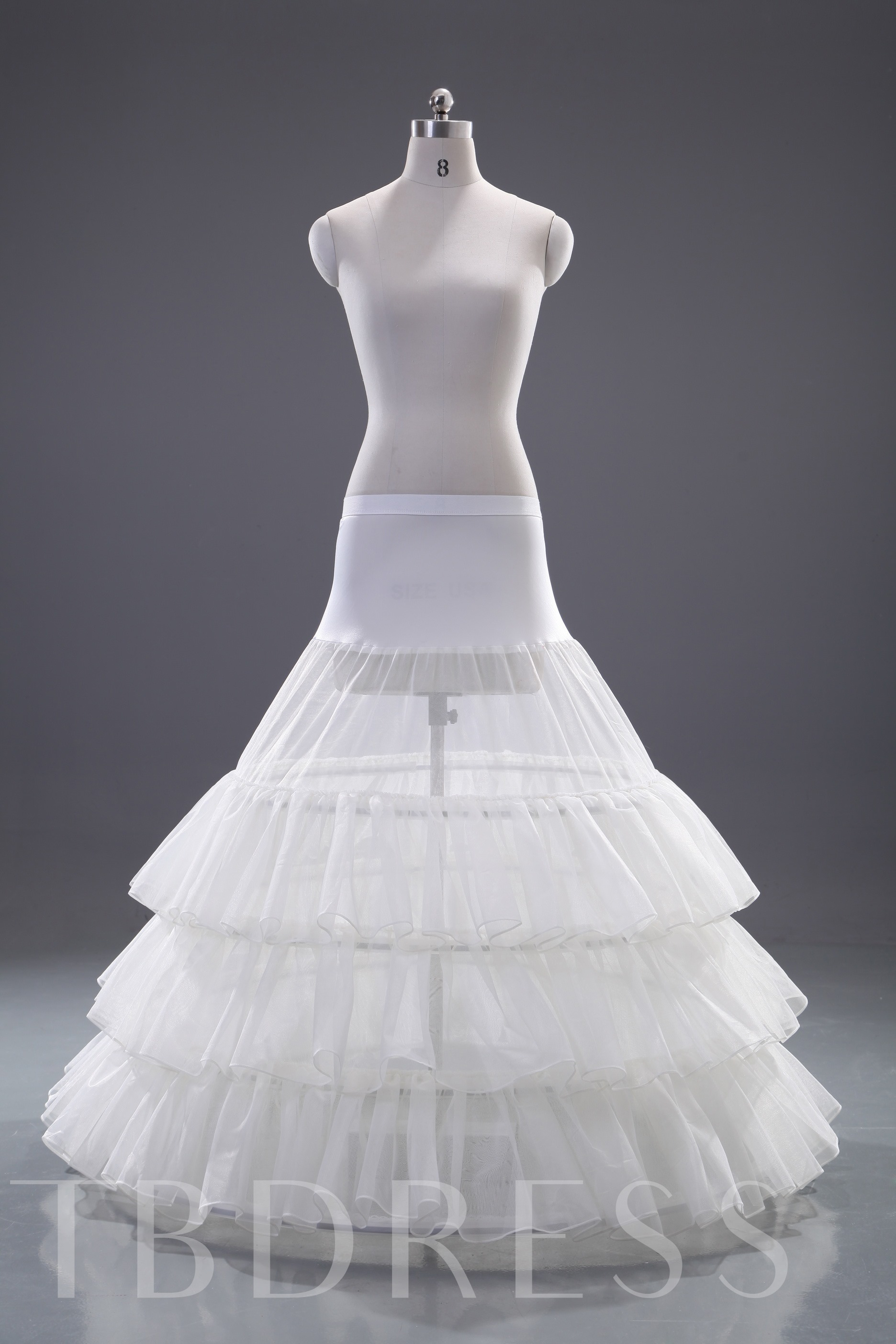 Four Layers Three steel wires Wedding Petticoat