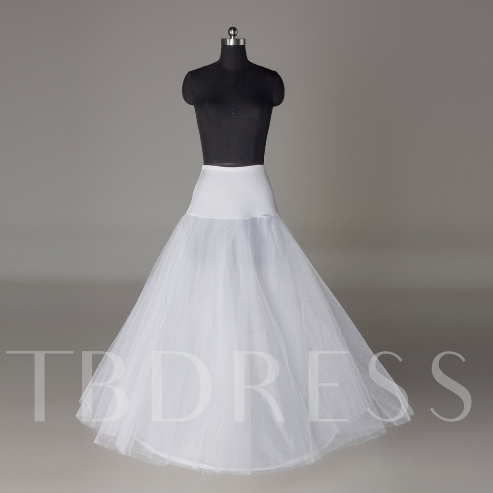 A-line One-steel Ring Two Layers Wedding Petticoat