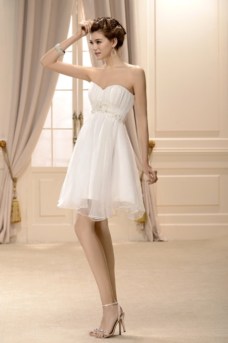 A-line Short/Mini Sweetheart Wedding Dress