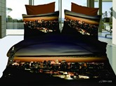 Hot Sell Amazing Modern City Night 4 Pieces Bedding Sets/Duvet Covers