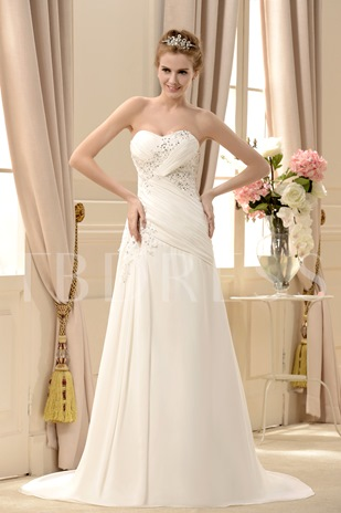 Sweetheart Appliques Sequins Wedding Dress