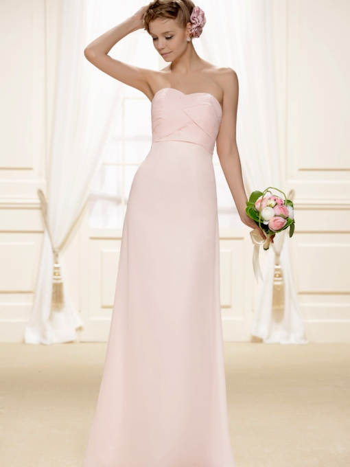 Sweetheart Beading Pleats Bridesmaid Dress