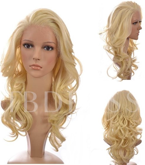 Long Body Curly Human Hair 18 Inches Lace Front Wig Wig
