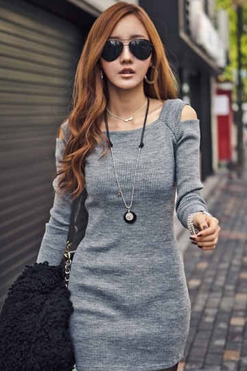Slim Long Sleeve Sheath Dress