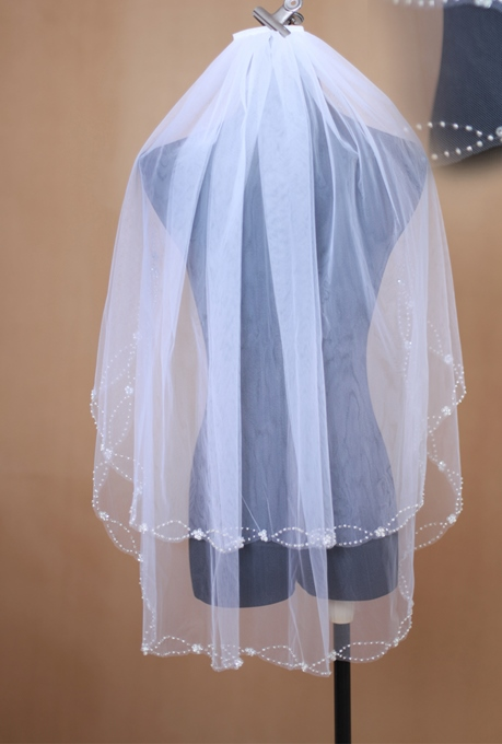 Tulle Elbow Length Wedding Veil