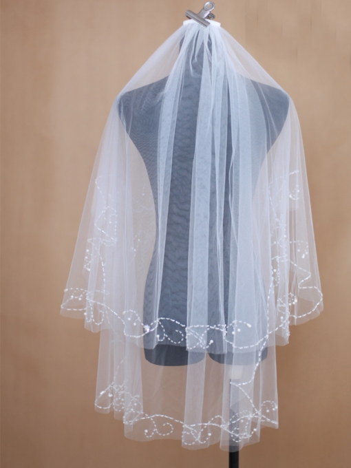 Wedding Veil Two-tier Fingertip Wedding Veils Net