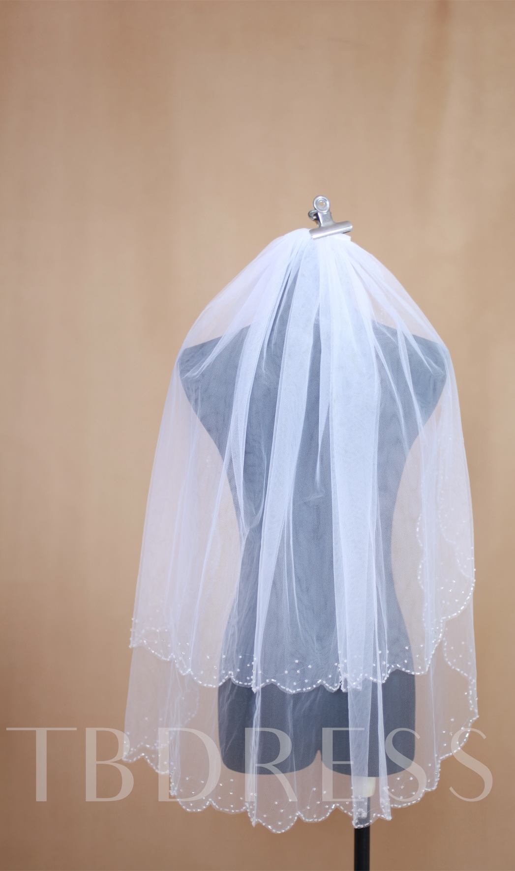 Two Layers Elbow Tull Wedding Veil