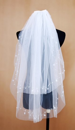 Wedding Veil Two-tier Fingertip Veils Net