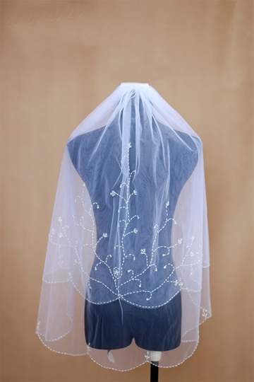 Marvelous Two Layers Elbow Length Wedding Veil