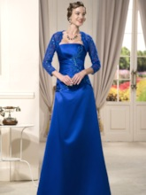 Strapless Appliques Mother Dress With Jacket