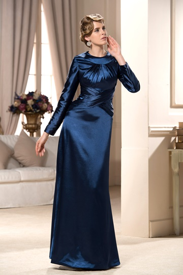 and Dignified Column Floor-Length Mother Evening Dress