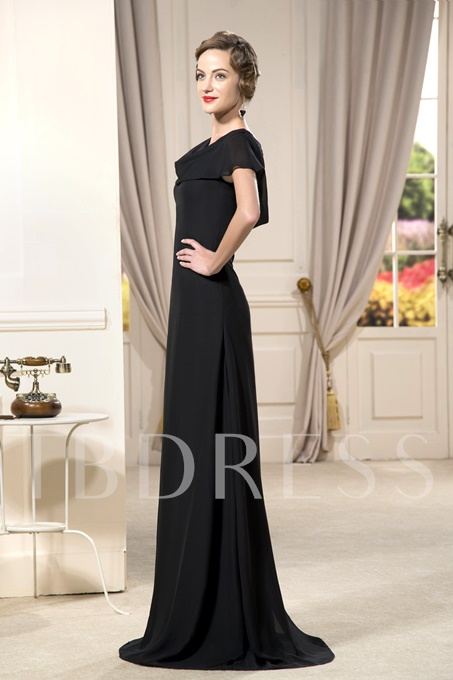 Ruched Beaded A-Line Strapless Floor-Length Mother Dress