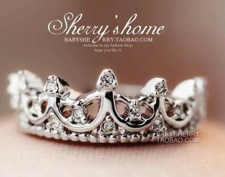 Crown Palace Retro Carve Patterns Ring