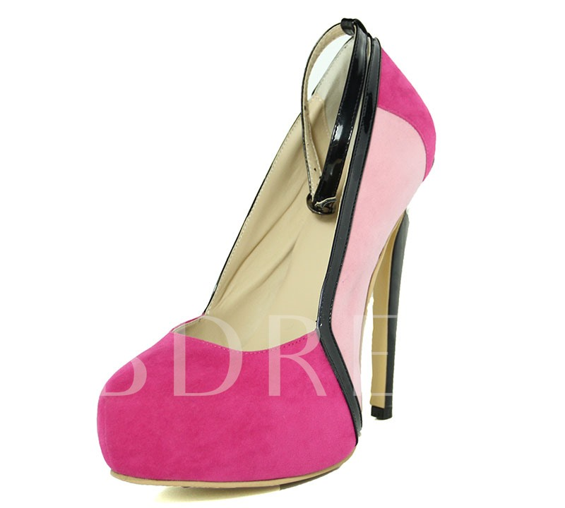 Rose Suede Utra High Heel Women's Club Pumps